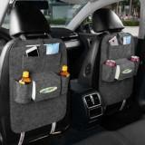 2x Car back seat Organizer Multifunctional Storage Back pocket Bag (Grey)
