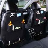 2x Car back seat Organizer Multifunctional Storage Back pocket Bag (Black)