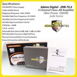 Adams Digital 4 Channel Class-AB Power Amplifier (Jade Series) - JDM-70.4