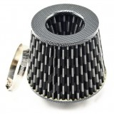 Air Filters Car/Truck/SUV Universal 3 inch/75mm High Flow Air Intake Cone Filter Carbon New Air Intake Filter