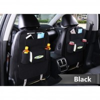 Car back seat Organizer Multifunctional Storage Back pocket Bag (Black)
