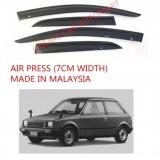 AG Air Press Door Visor Wind Deflector (Made in Malaysia) - Small 7 cm Width for DAIHATSU CD CHARADE YR1983