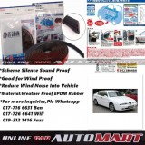 Alfa Romeo 166-SCHEME SILENCE (Double D) DIY Air Tight Slim Rubber Seal Stripe Sound & Wind Proof & Sound Proof for Car (4 Doors)