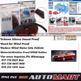 Alfa Romeo 155-SCHEME SILENCE (Double D) DIY Air Tight Slim Rubber Seal Stripe Sound & Wind Proof & Sound Proof for Car (4 Doors)