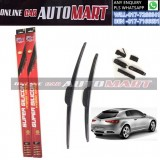 ALFA ROMEO BRERA/SPIDER Yr 2006-ORIGINAL KW Super High Quality Silicone Hybrid Wiper-With Multifunction Clip-1 Pair (Made in Germany)-18 inch & 23 inch