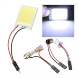 24 LED COB Chip Interior LED Panel T10 BA9S Festoon Dome Reading Light - White