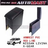 Armrest PVC Red Line For Nissan Livina X-Gear