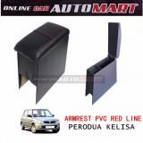 Armrest PVC Red Line For Perodua Kelisa
