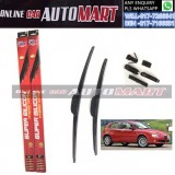 ALFA ROMEO 147,GT(193)(937) Yr 2000-2005-ORIGINAL KW Super High Quality Silicone Hybrid Wiper-With Multifunction Clip-1 Pair (Made in Germany)-16 inch & 22 inch