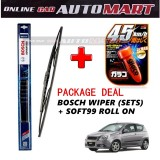 Chevrolet Aveo  - (PACKAGE DEAL)Bosch Advantage Wiper Blade (Sets) with Soft99 Glaco Roll On RAIN REPELLANT - 15 inch & 20 inch