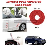 Audi Q5 - 16FT/5M (RED) Moulding Trim Rubber Strip Auto Door Scratch Protector Car Styling Invisible Decorative Tape (4 Doors)