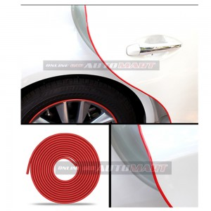 Alfa Romeo 147 - 16FT/5M (RED) Moulding Trim Rubber Strip Auto Door Scratch Protector Car Styling Invisible Decorative Tape (4 Doors)