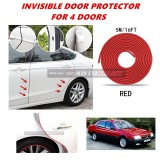 Alfa Romeo 164 - 16FT/5M (RED) Moulding Trim Rubber Strip Auto Door Scratch Protector Car Styling Invisible Decorative Tape (4 Doors)