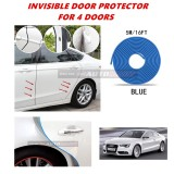 Audi A5 - 16FT/5M (BLUE) Moulding Trim Rubber Strip Auto Door Scratch Protector Car Styling Invisible Decorative Tape (4 Doors)