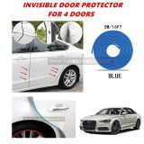 Audi A6 - 16FT/5M (BLUE) Moulding Trim Rubber Strip Auto Door Scratch Protector Car Styling Invisible Decorative Tape (4 Doors)