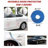 Audi A8 - 16FT/5M (BLUE) Moulding Trim Rubber Strip Auto Door Scratch Protector Car Styling Invisible Decorative Tape (4 Doors)