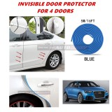 Audi Q3 - 16FT/5M (BLUE) Moulding Trim Rubber Strip Auto Door Scratch Protector Car Styling Invisible Decorative Tape (4 Doors)