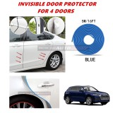 Audi Q5 - 16FT/5M (BLUE) Moulding Trim Rubber Strip Auto Door Scratch Protector Car Styling Invisible Decorative Tape (4 Doors)