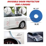 Alfa Romeo 156 - 16FT/5M (BLUE) Moulding Trim Rubber Strip Auto Door Scratch Protector Car Styling Invisible Decorative Tape (4 Doors)