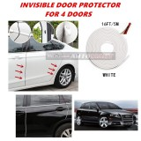 Audi A3 - 16FT/5M (WHITE) Moulding Trim Rubber Strip Auto Door Scratch Protector Car Styling Invisible Decorative Tape (4 Doors)