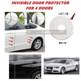 Audi A5 - 16FT/5M (WHITE) Moulding Trim Rubber Strip Auto Door Scratch Protector Car Styling Invisible Decorative Tape (4 Doors)
