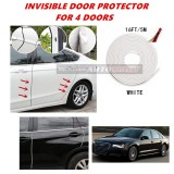 Audi A8 - 16FT/5M (WHITE) Moulding Trim Rubber Strip Auto Door Scratch Protector Car Styling Invisible Decorative Tape (4 Doors)