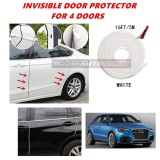 Audi Q3 - 16FT/5M (WHITE) Moulding Trim Rubber Strip Auto Door Scratch Protector Car Styling Invisible Decorative Tape (4 Doors)
