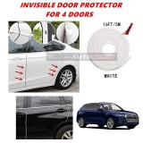 Audi Q5 - 16FT/5M (WHITE) Moulding Trim Rubber Strip Auto Door Scratch Protector Car Styling Invisible Decorative Tape (4 Doors)