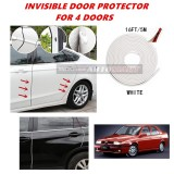 Alfa Romeo 155 - 16FT/5M (WHITE) Moulding Trim Rubber Strip Auto Door Scratch Protector Car Styling Invisible Decorative Tape (4 Doors)