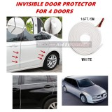 Alfa Romeo 156 - 16FT/5M (WHITE) Moulding Trim Rubber Strip Auto Door Scratch Protector Car Styling Invisible Decorative Tape (4 Doors)