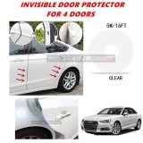 Audi A4 - 16FT/5M (CLEAR) Moulding Trim Rubber Strip Auto Door Scratch Protector Car Styling Invisible Decorative Tape (4 Doors)