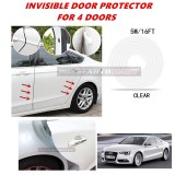 Audi A5 - 16FT/5M (CLEAR) Moulding Trim Rubber Strip Auto Door Scratch Protector Car Styling Invisible Decorative Tape (4 Doors)