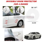 Audi A6 - 16FT/5M (CLEAR) Moulding Trim Rubber Strip Auto Door Scratch Protector Car Styling Invisible Decorative Tape (4 Doors)