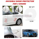 Audi Q3 - 16FT/5M (CLEAR) Moulding Trim Rubber Strip Auto Door Scratch Protector Car Styling Invisible Decorative Tape (4 Doors)