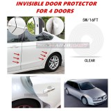 Alfa Romeo 156 - 16FT/5M (CLEAR) Moulding Trim Rubber Strip Auto Door Scratch Protector Car Styling Invisible Decorative Tape (4 Doors)