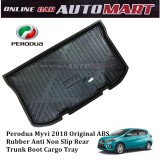 Custom Fit Original ABS Non Slip Rear Trunk Boot Cargo Tray - Perodua Myvi 2018