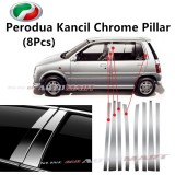 Perodua Kancil Yr 1994-2002 - Car Chrome Door Window Pillar Trim Panel Chrome Stainless Steel (1 Set)