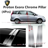 Proton Exora - Car Chrome Door Window Pillar Trim Panel Chrome Stainless Steel (1 Set)