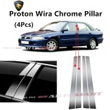 Proton Wira- Car Chrome Door Window Pillar Trim Panel Chrome Stainless Steel (1 Set)