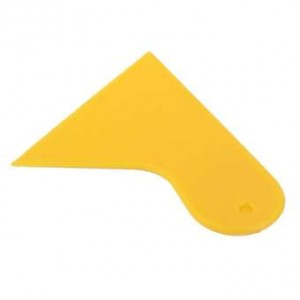 Car Auto Window Film Sheet Wrapping Squeegee Scraper Tinter Tinting Tool - B SCRAP PLATE (A14/YELLOW)