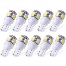 10XWhite T10 LED Car Light Bulbs T10 W5w 5 SMD 5050