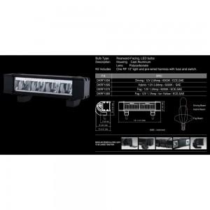"PIAA - DKRF105X RF Series 10"" LED Light Bar Driving Beam Kit"