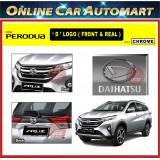 PERODUA ARUZ 2018-2019 Front and Rear Convert Daihatsu Chrome / Black ABS Logo Emblem (2pcs)