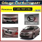 PERODUA BEZZA Front and Rear Convert Daihatsu Chrome / Black ABS Logo Emblem (2pcs)