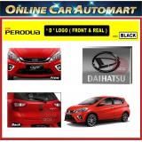 PERODUA MYVI 2018-2019 Front and Rear Convert Daihatsu Chrome / Black ABS Logo Emblem (2pcs)