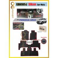 EMANON-J Silicon Car Floor Mats Waterproof and Non Slip Carpet Custom Fit For Your Vehicle (Perodua Aruz)