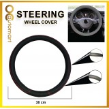 Universal Car Steering Wheel Cover Anti-Slip Premium High-Grade Leather Auto Steering-Wheel Cover Cushion Protector