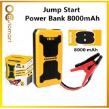 HUMMER H8 Multifunctional 8000 mAh Power Bank Jump Starter Compact Lithium Battery USB Phone Charger Power Bank Jump Starter 12V