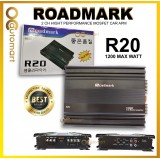 ROADMARK R20 2-CHANNEL CLASS AB HIGH PERFORMANCE MOSFET CAR AMPLIFIER -1200 MAX WATTS