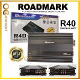 ROADMARK R40 4-CHANNEL CLASS AB HIGH PERFORMANCE MOSFET CAR AMPLIFIER - 2000 MAX WATTS